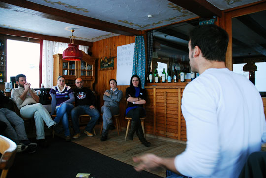 Vortrag in der Stube